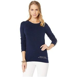 Lilly Pulitzer Navy Dinah Cotton Sweater